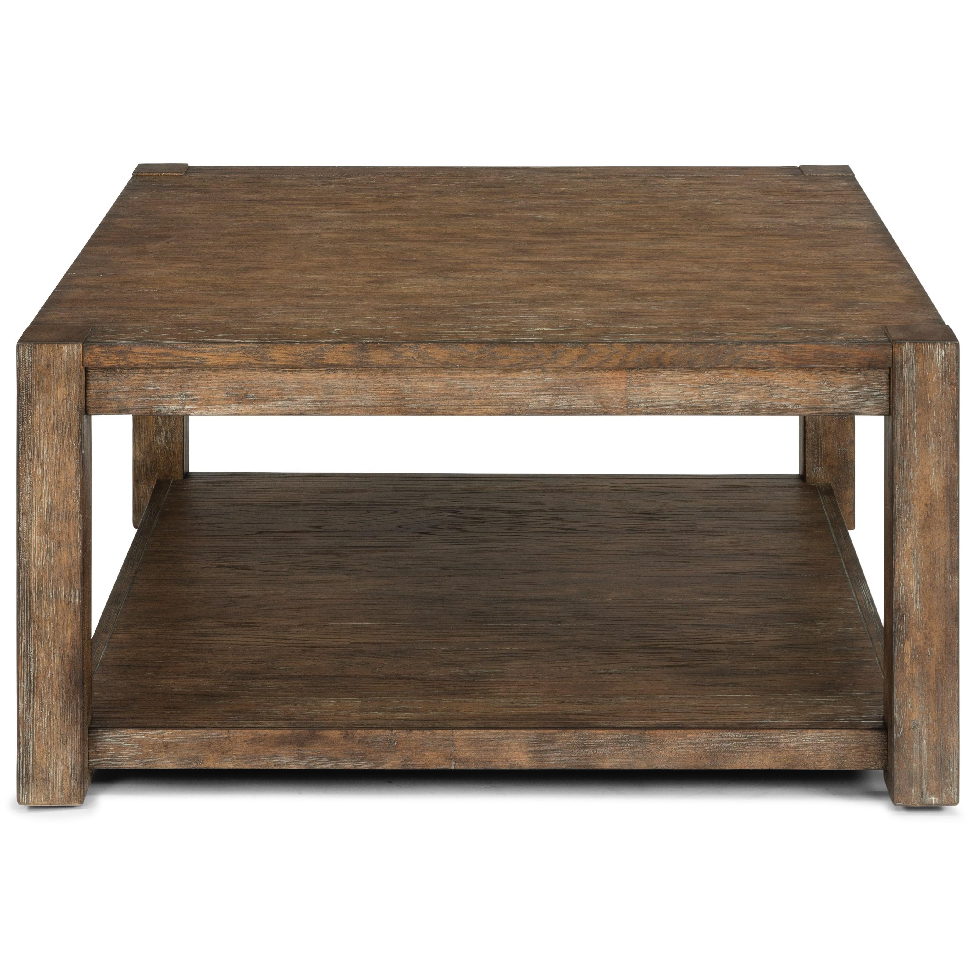 Boulder Square Cocktail Table by Flexsteel at Crowley Furniture & Mattress