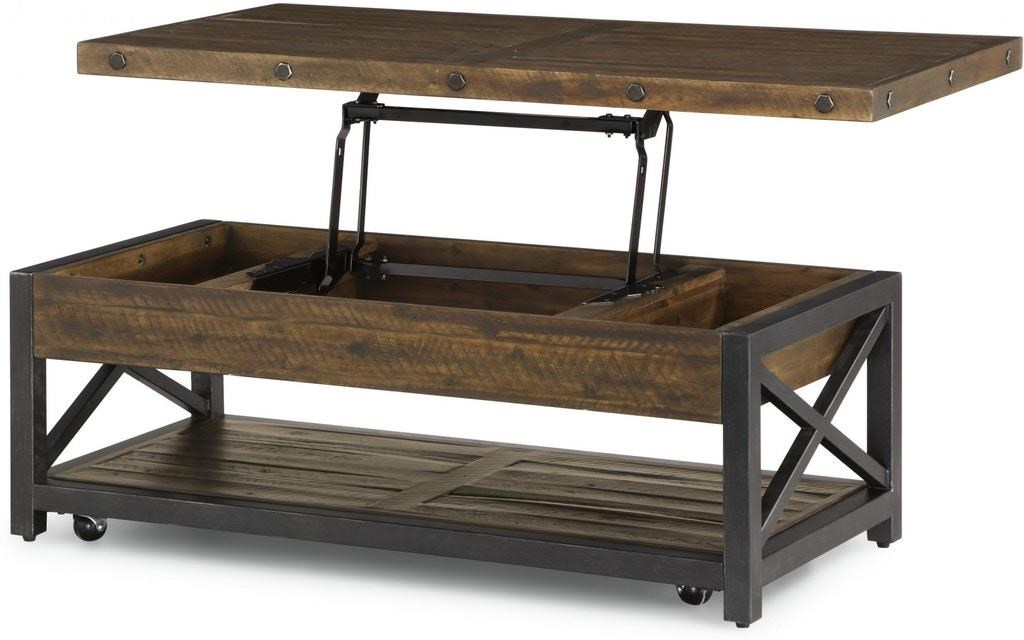 Calahan Calahan Castered  Lift Top Cocktail Table by Flexsteel Wynwood Collection at Morris Home