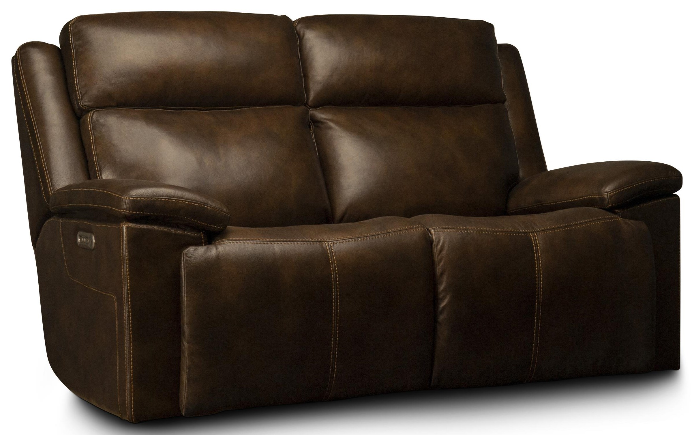Calista Calista Power Leather Match Loveseat by Flexsteel Wynwood Collection at Morris Home