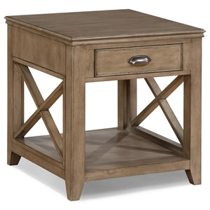 Contemporary End Table with Open Design