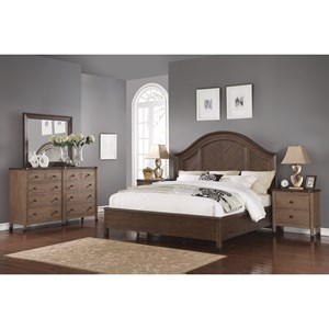 Transitional California King Bedroom Group with Headboard and Footboard Bed