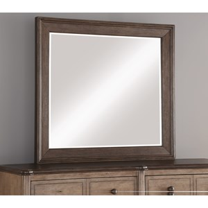 Transitional Landscape Mirror with Elegant Molding and Beveled Glass