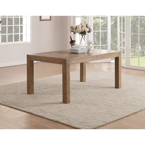 Contemporary Formal Rectangular Dining Table with Table Leaves
