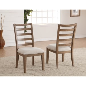 Transitional Dining Side Chair with Ladderback