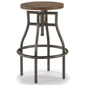 Industrial Stool with Adjustable Seat
