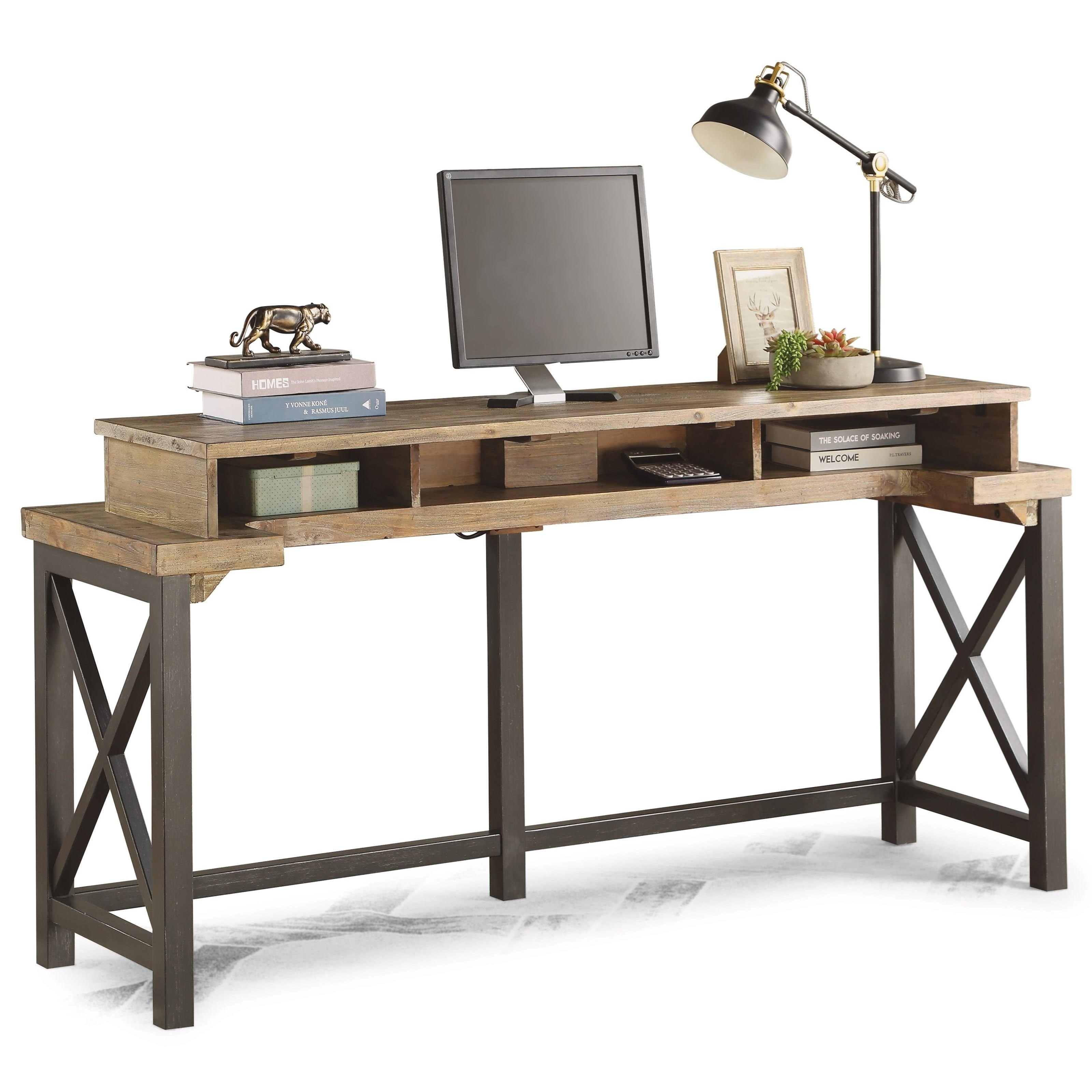 Carpenter Work Console  by Flexsteel Wynwood Collection at Northeast Factory Direct