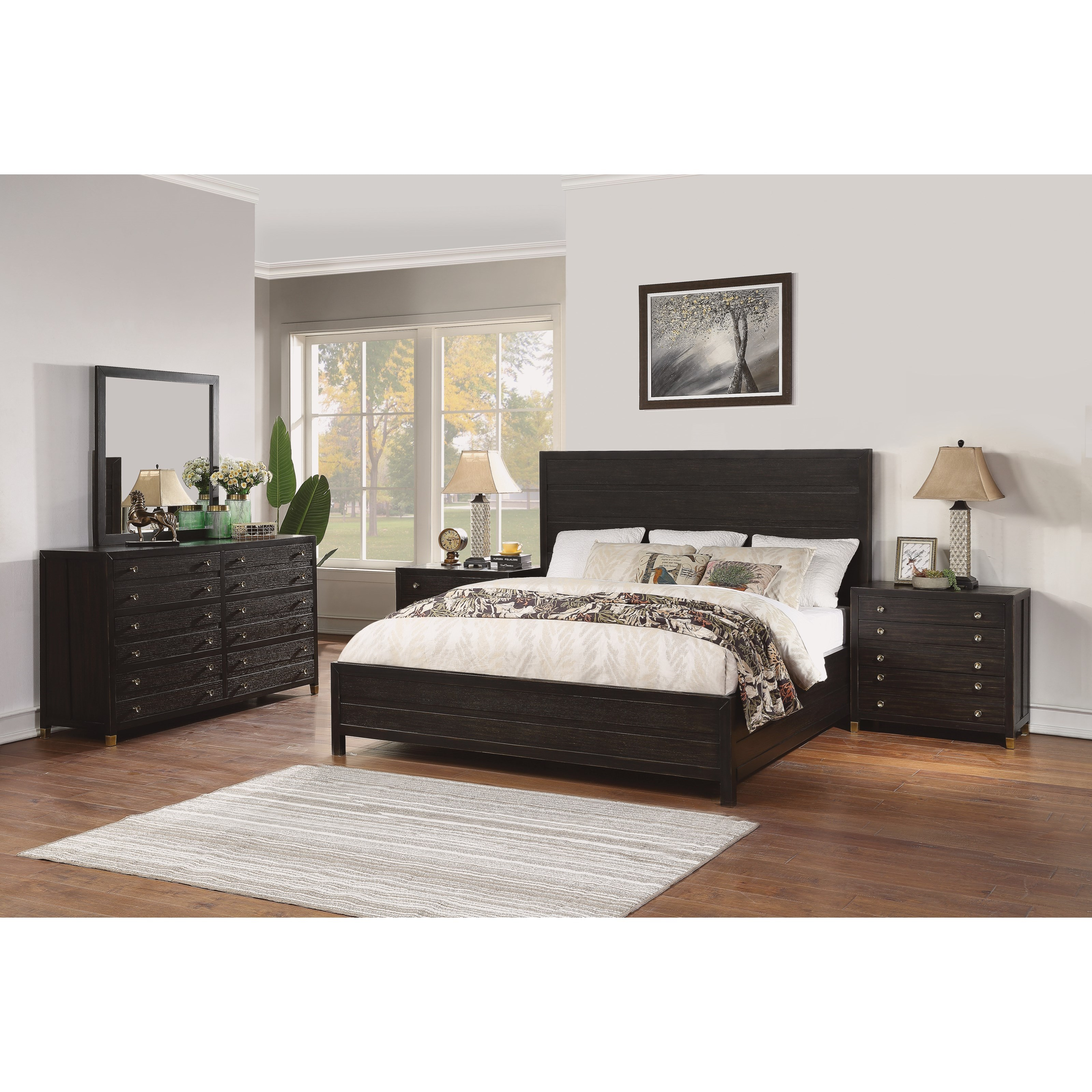 Cologne King Bedroom Group by Flexsteel Wynwood Collection at Northeast Factory Direct