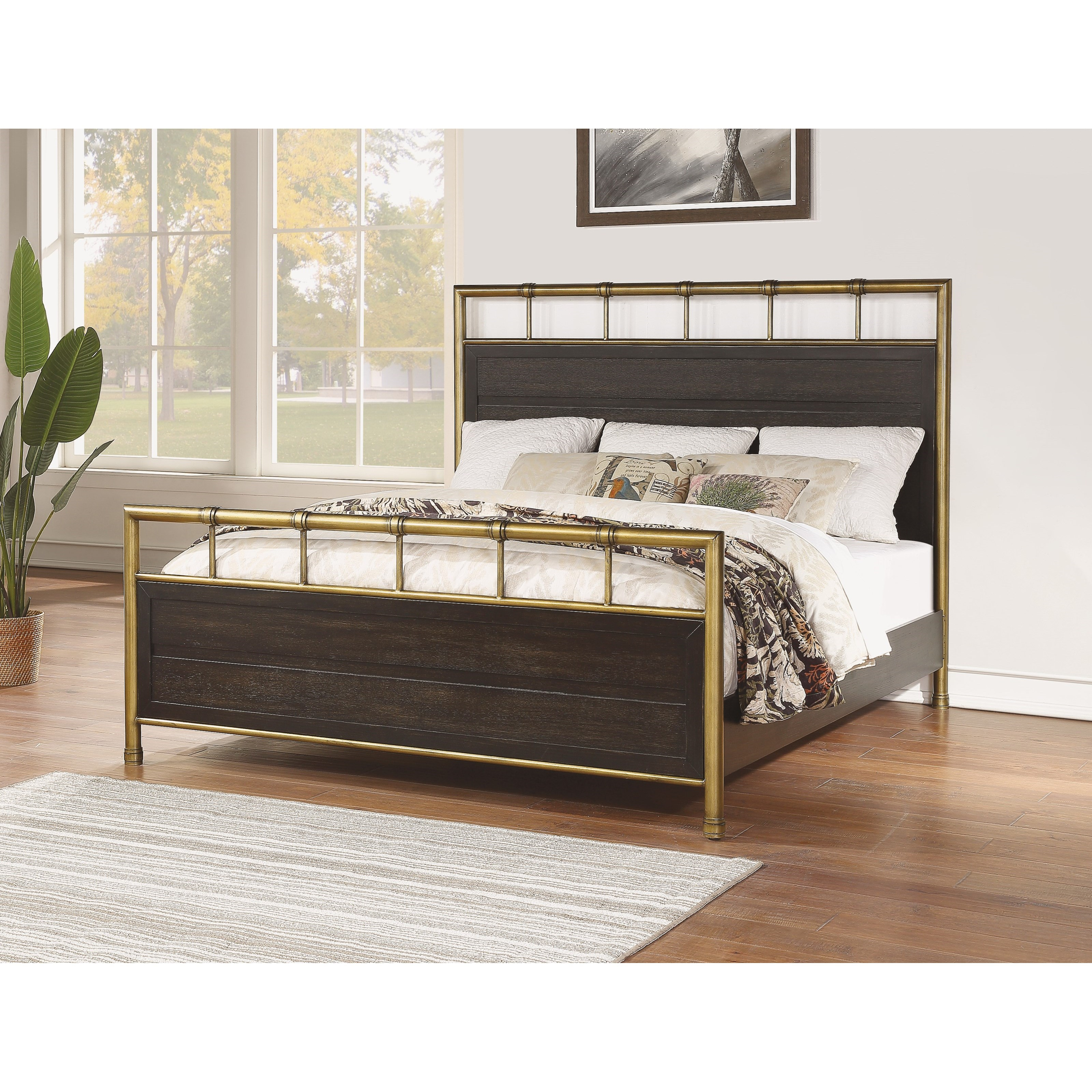 Cologne Queen Panel Bed by Flexsteel Wynwood Collection at Northeast Factory Direct