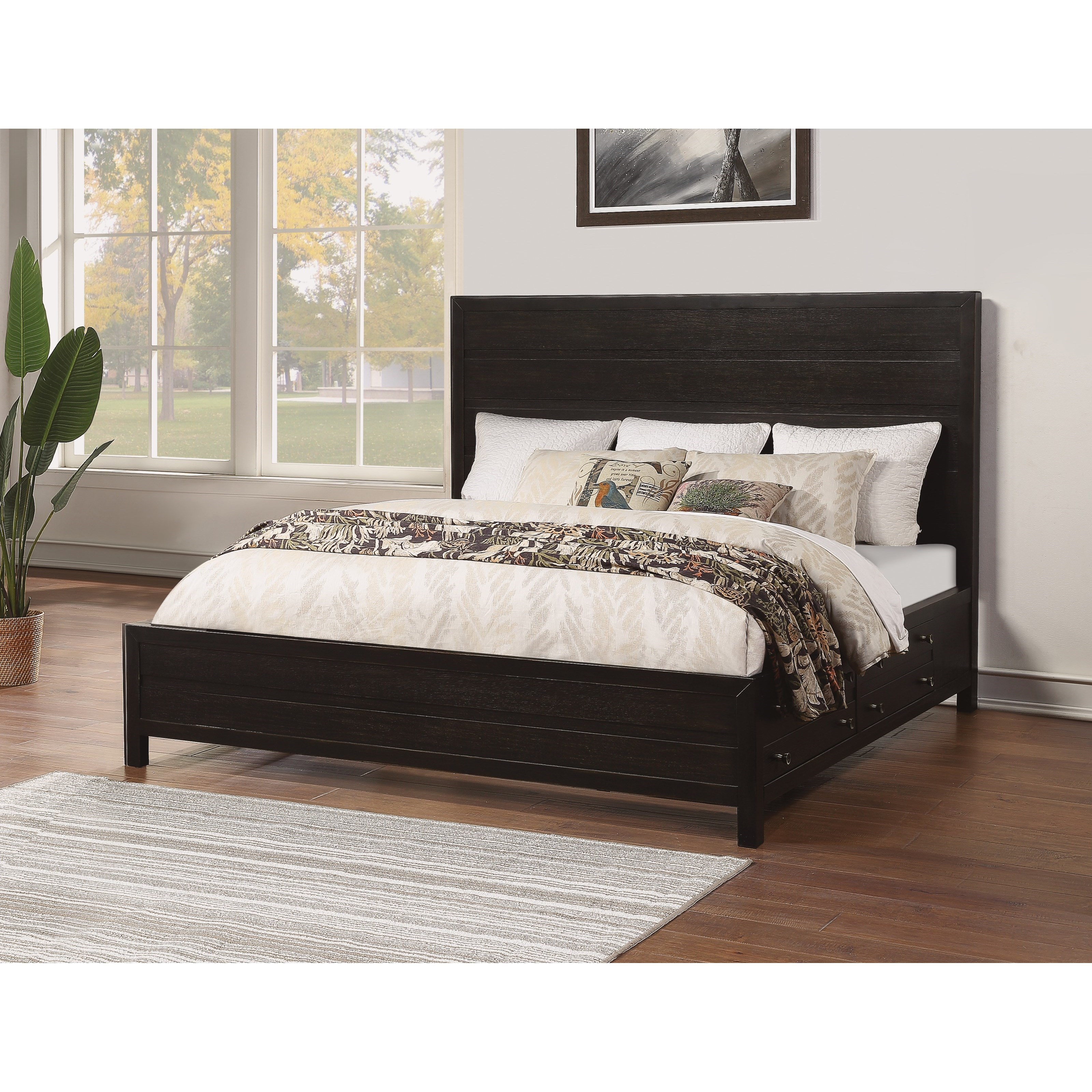 Cologne California King Low Profile Storage Bed by Flexsteel Wynwood Collection at Pilgrim Furniture City