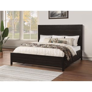 Contemporary King Low Profile Storage Bed with Side Drawers