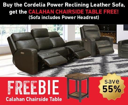 Cordelia Cordelia Leather Reclining Sofa w/Freebie! by Flexsteel Wynwood Collection at Morris Home