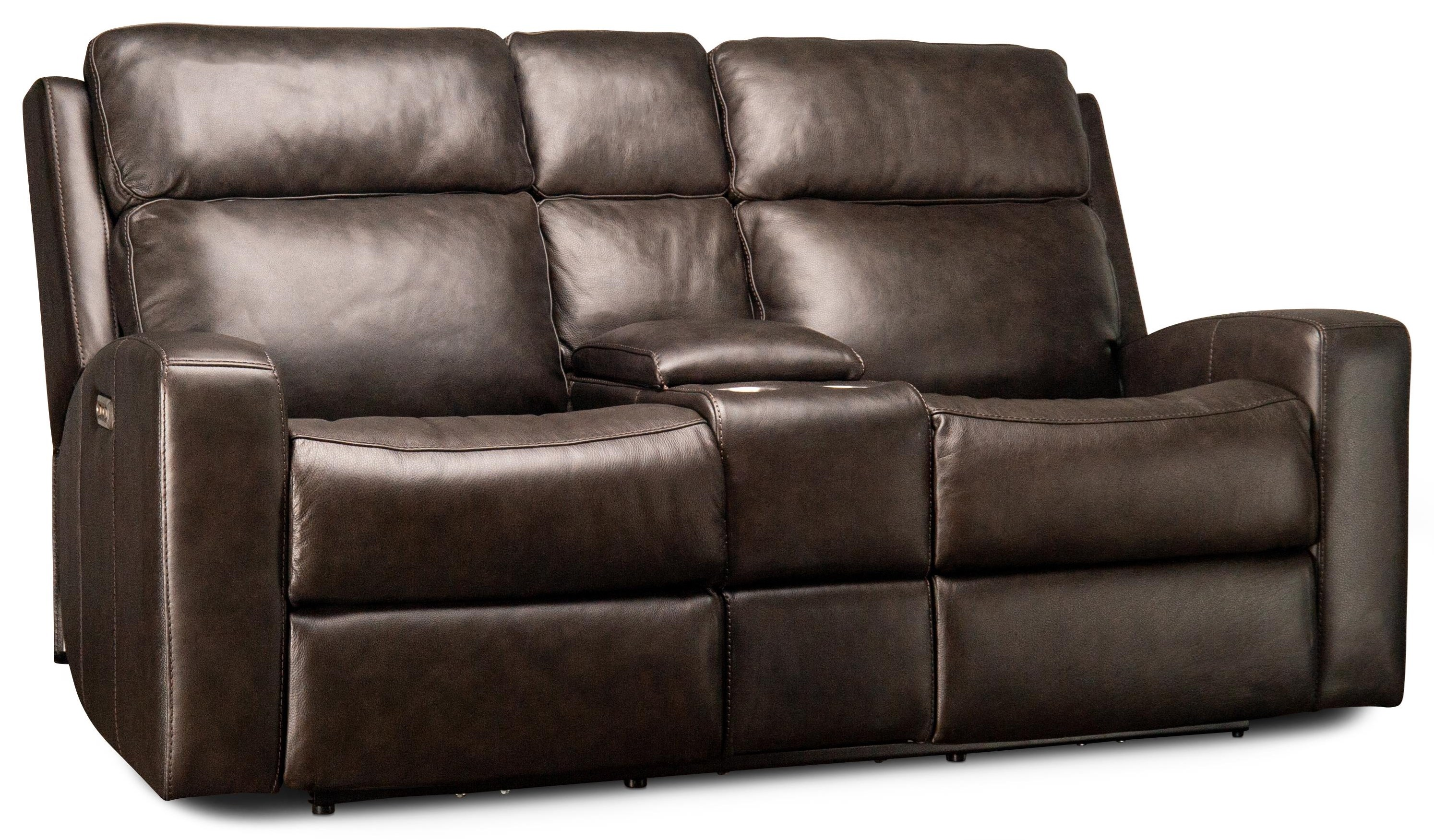 Cordelia Cordelia Leather Match Power Loveseat by Flexsteel Wynwood Collection at Morris Home