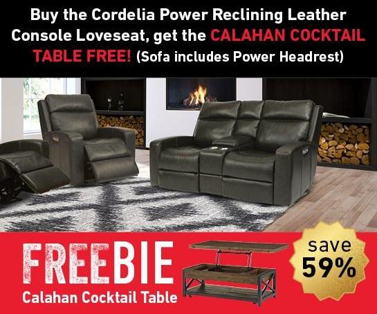 Cordelia Cordelia Power Leather Loveseat w/Freebie! by Flexsteel Wynwood Collection at Morris Home