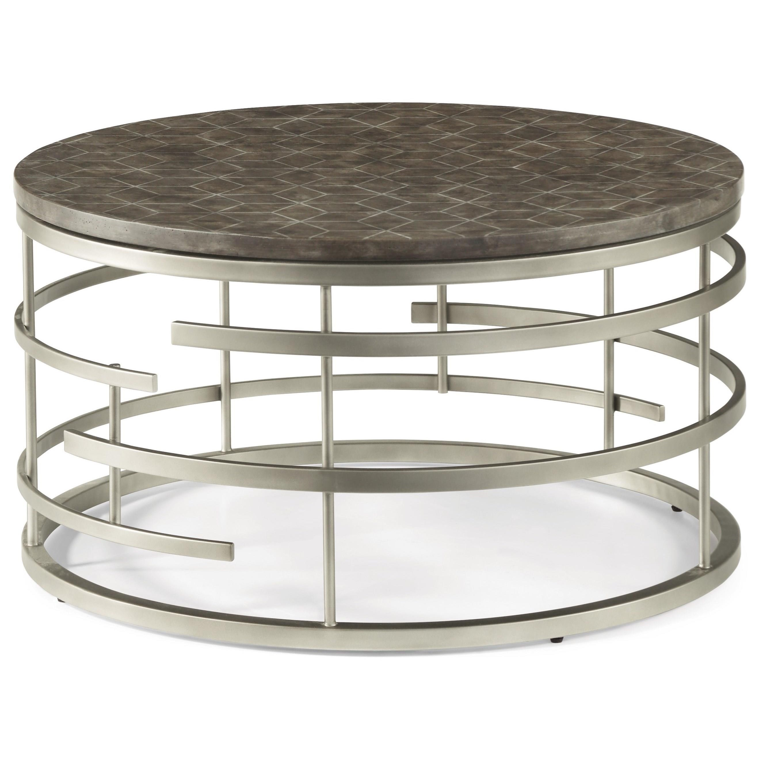 Halo Round Cocktail Table by Flexsteel Wynwood Collection at Darvin Furniture
