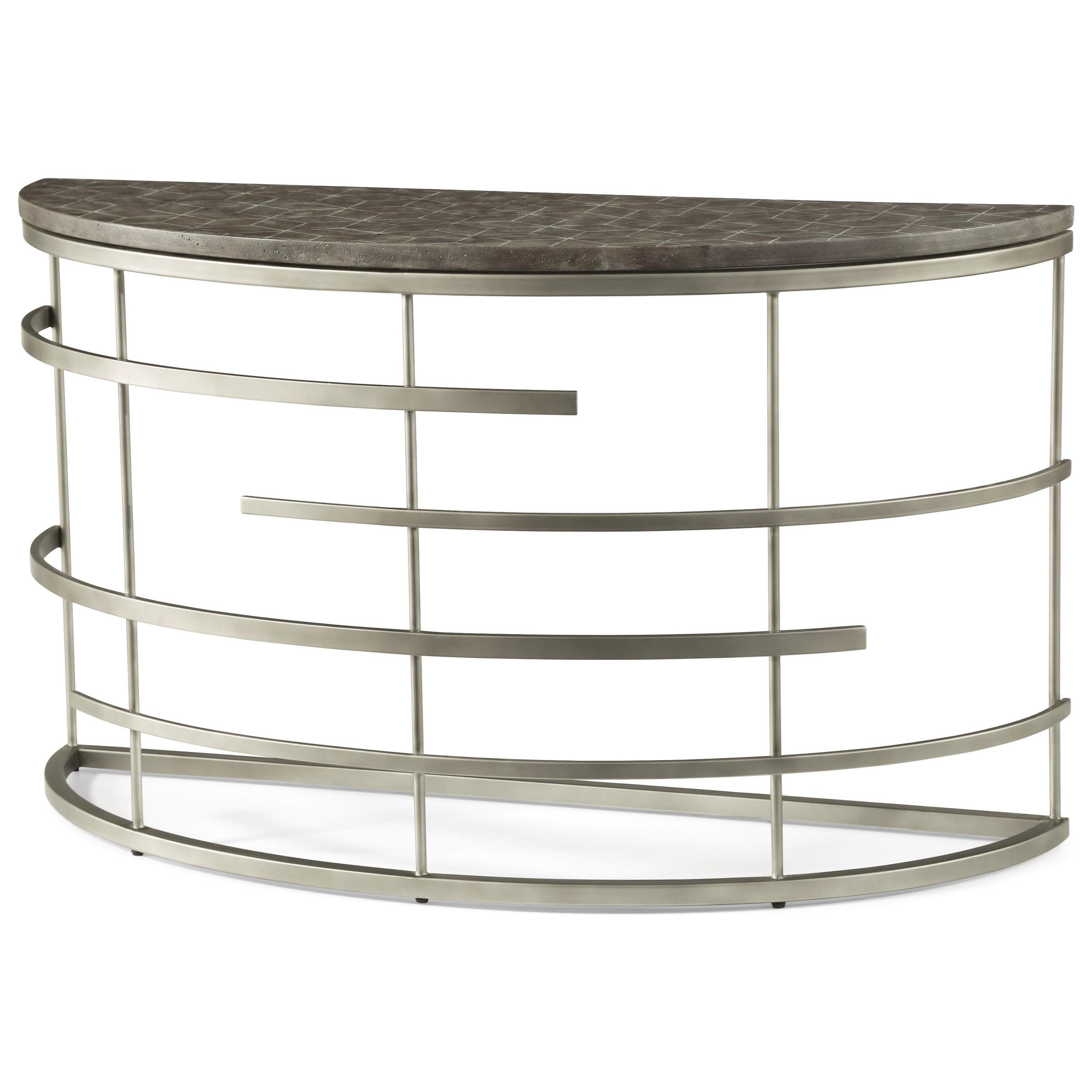 Halo Sofa Table  by Flexsteel Wynwood Collection at Home Collections Furniture
