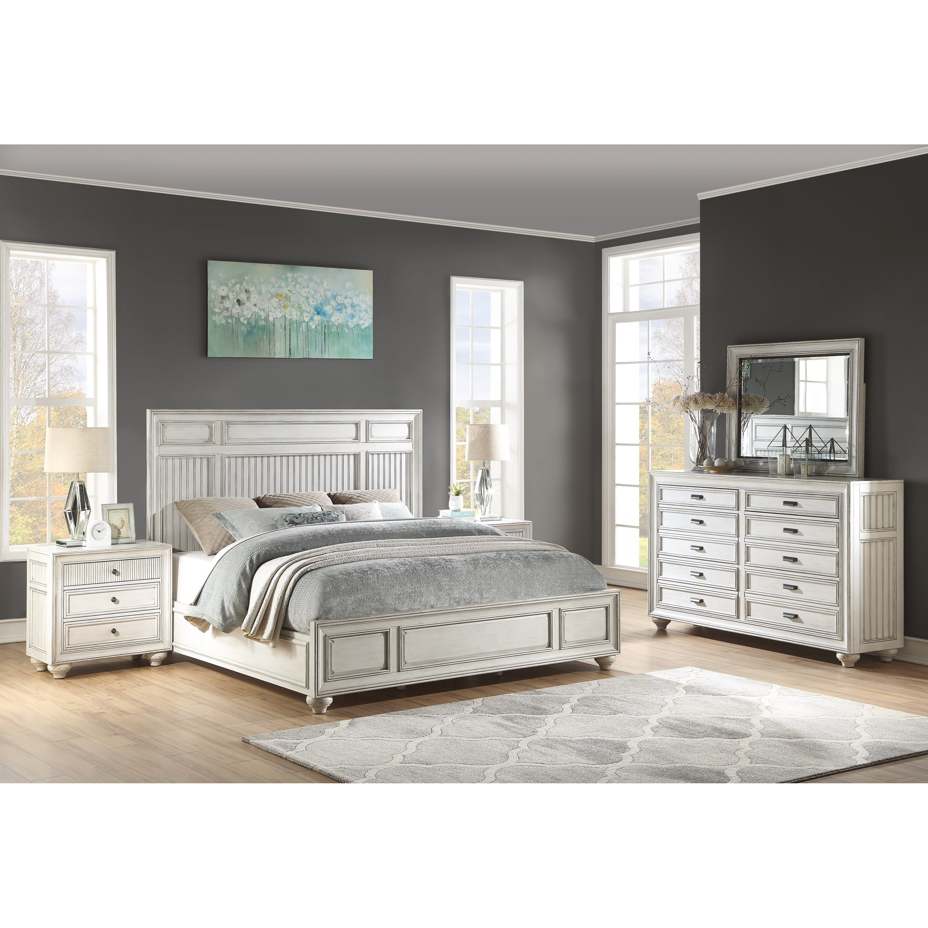 Harmony California King Bedroom Group by Flexsteel Wynwood Collection at Northeast Factory Direct