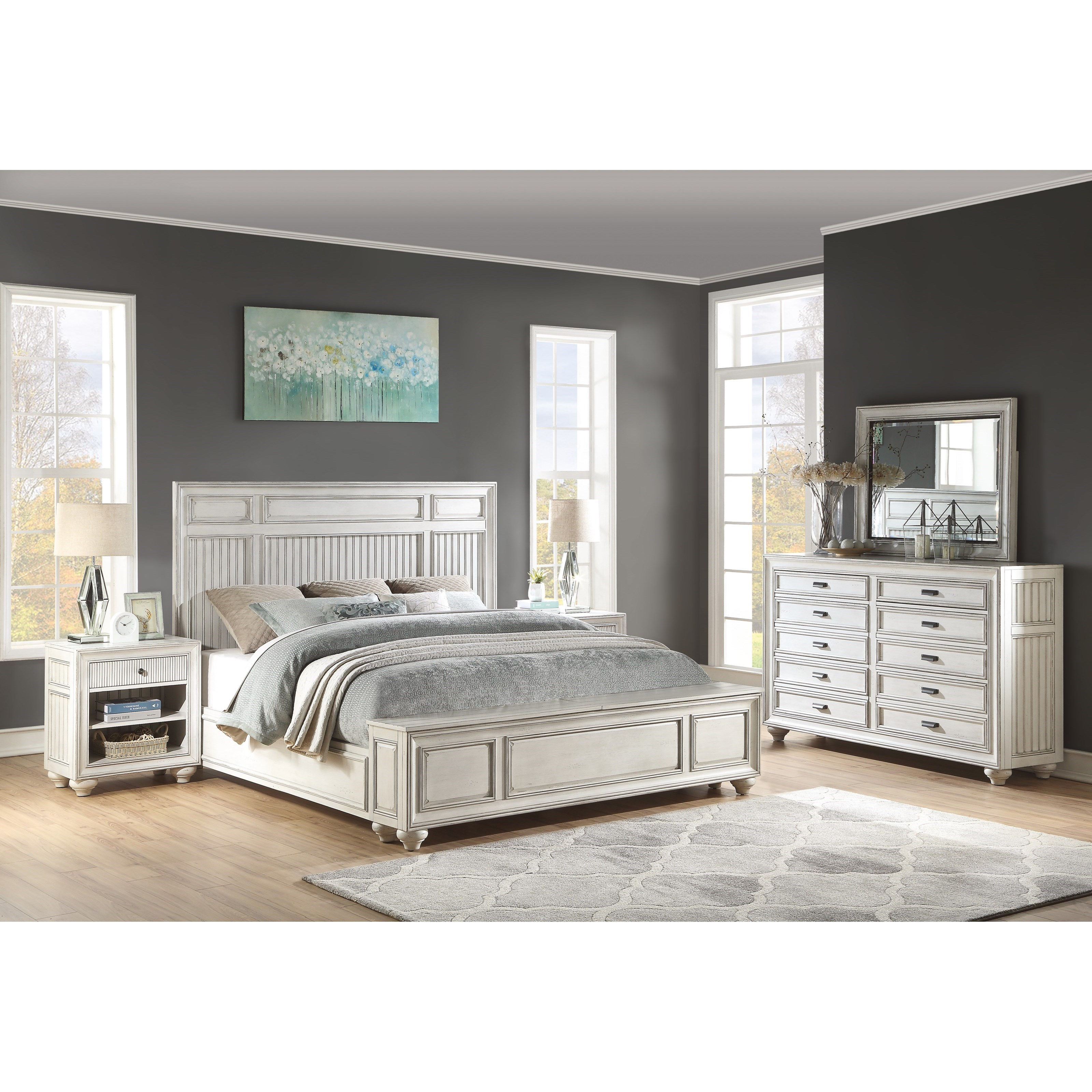 Harmony Queen Bedroom Group by Flexsteel Wynwood Collection at Northeast Factory Direct