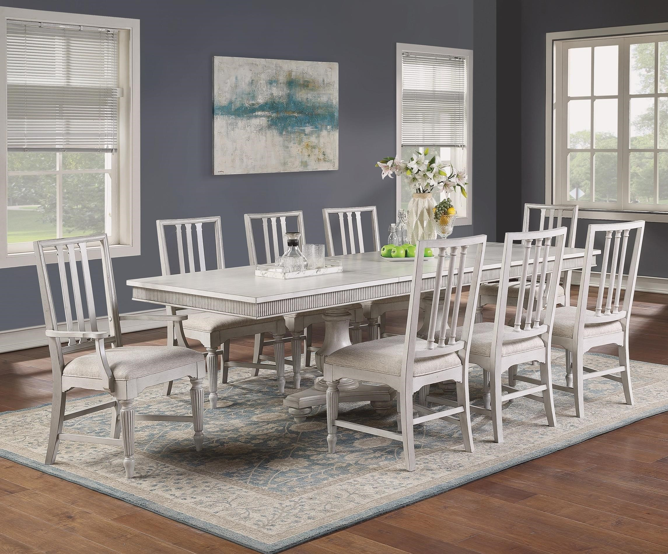 Harmony 7-Piece Dining Table Set by Flexsteel Wynwood Collection at Steger's Furniture