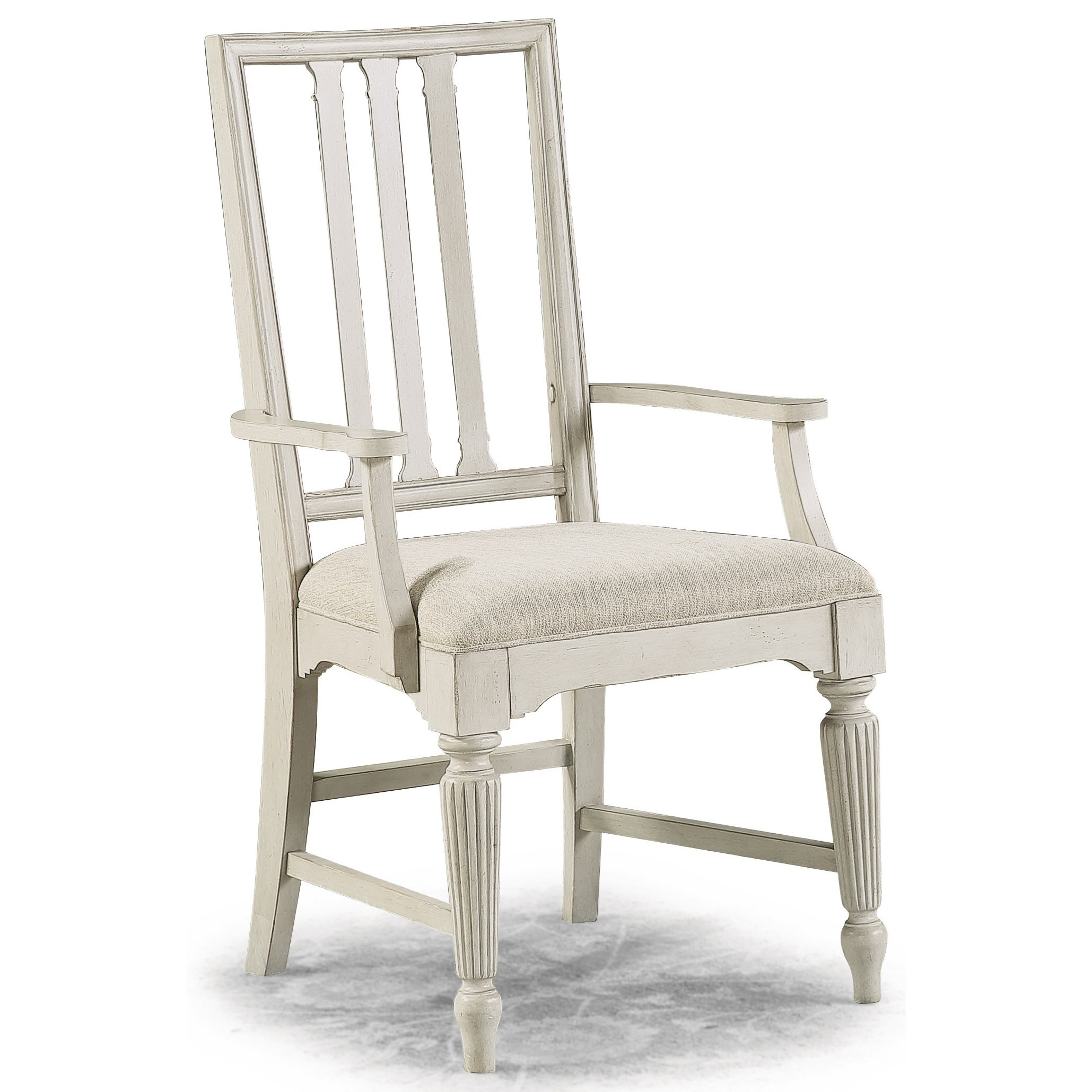 Harmony Upholstered Arm Dining Chair by Flexsteel Wynwood Collection at Northeast Factory Direct