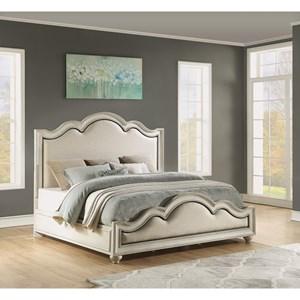 Cottage King Upholstered Bed