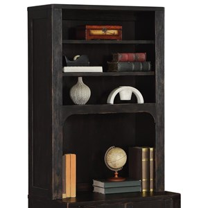 Rustic Bookcase Hutch with Adjustable Shelves