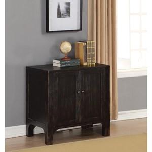 Rustic 2-Door Cabinet with Adjustable Shelves