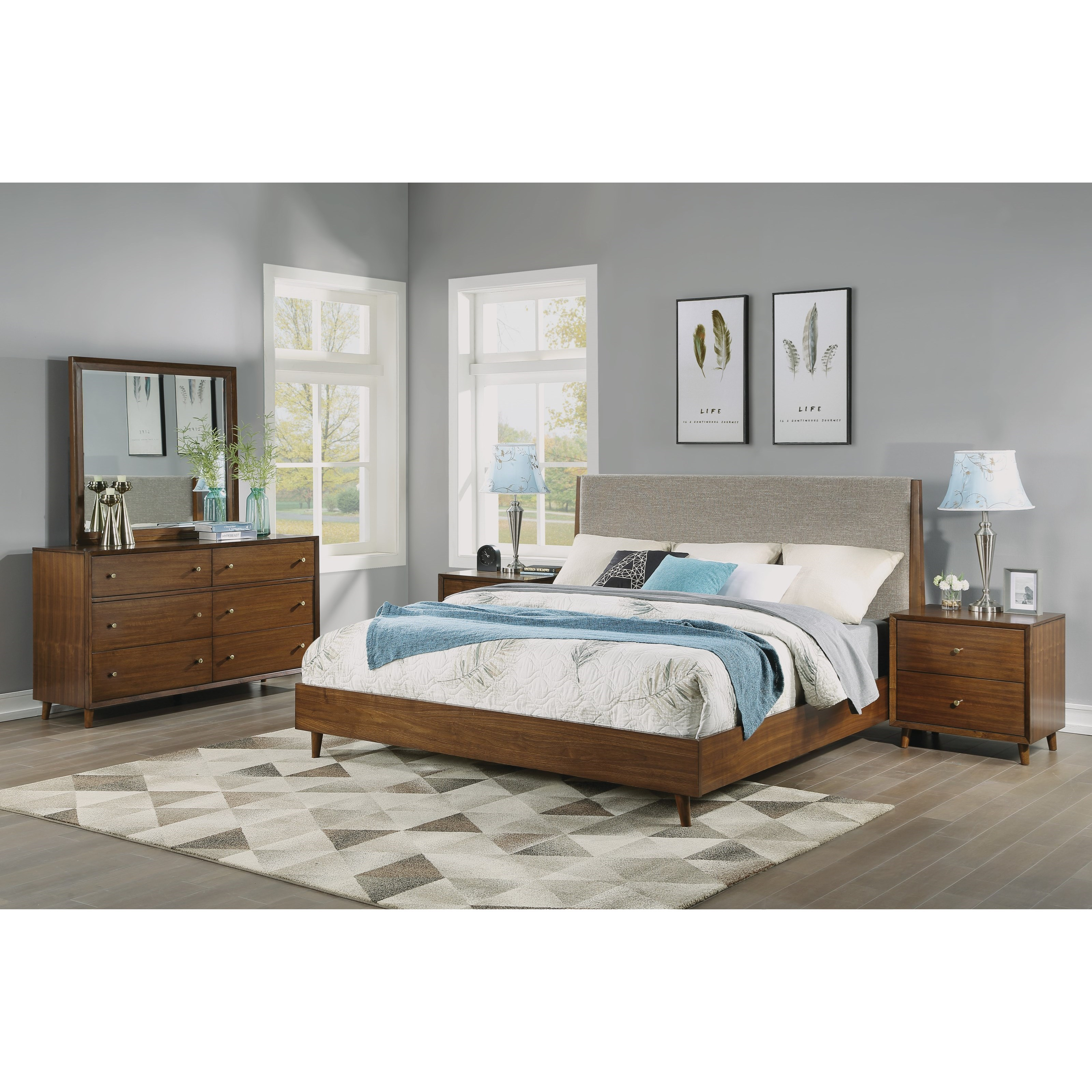 Ludwig King Bedroom Group by Flexsteel Wynwood Collection at Home Collections Furniture