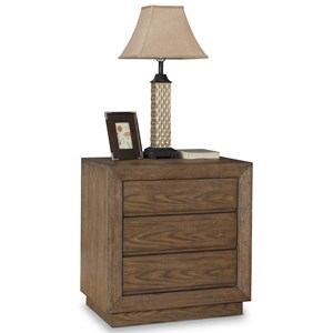 Casual Night Stand with Outlets/USB Ports and Felt-Lined Drawer