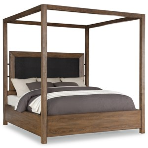 Casual Queen Canopy Bed