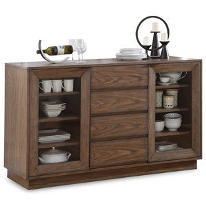 Casual Buffet with Felt-Lined Drawer and Silverware Tray