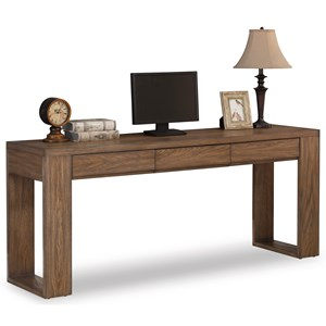 Casual Double Pedestal Desk with 3 Drawers