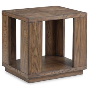 Casual End Table with Open Base