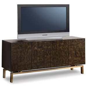 Contemporary Entertainment Base with 8 Drawers and 4 Shelves