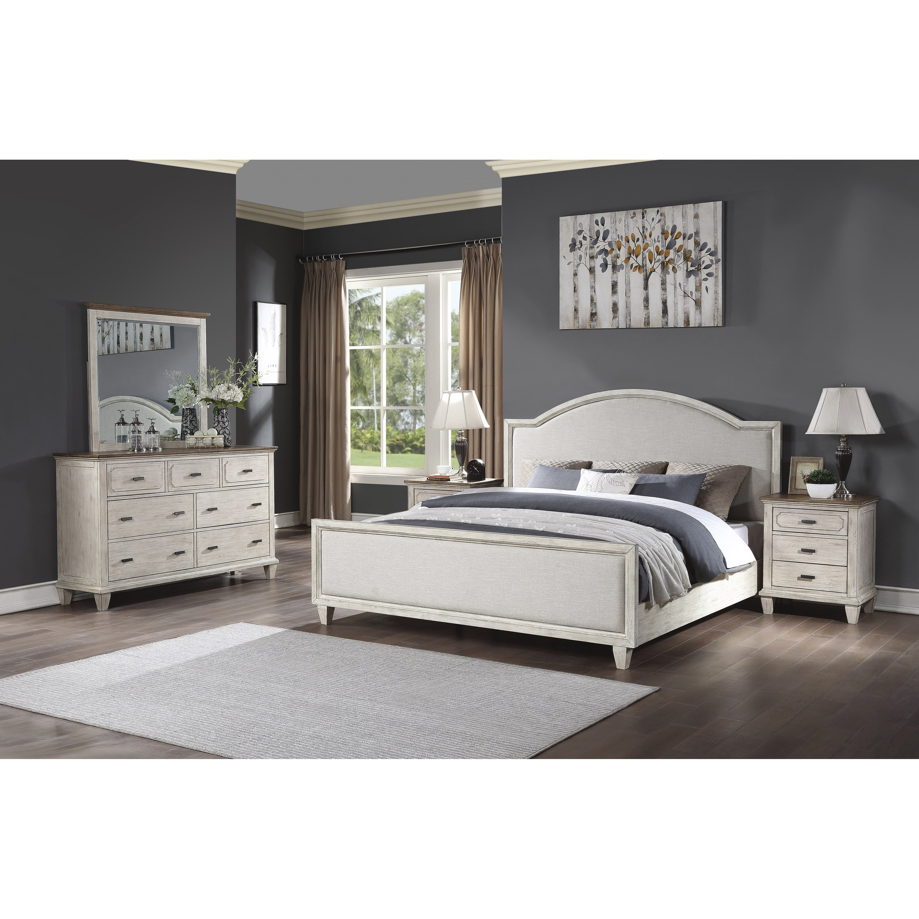 Newport King Bedroom Group by Flexsteel Wynwood Collection at Northeast Factory Direct