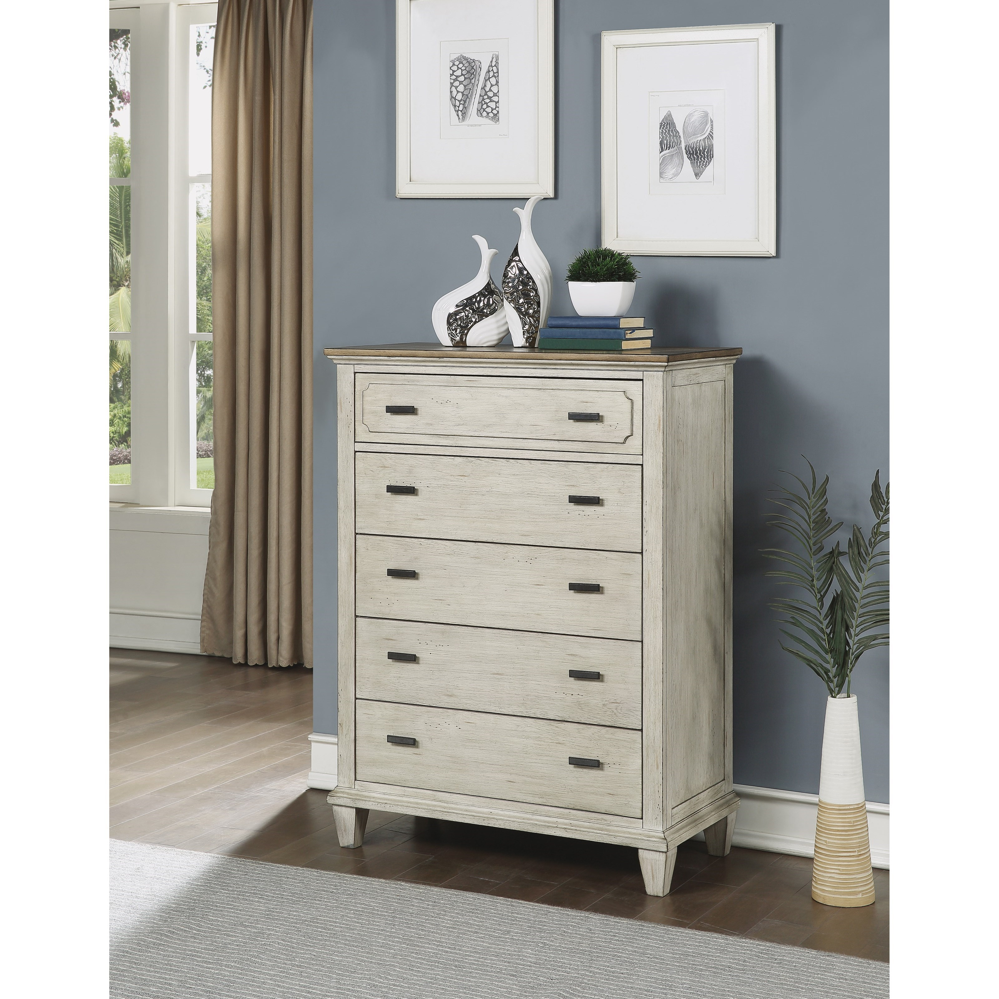 Newport Chest of Drawers by Flexsteel Wynwood Collection at Northeast Factory Direct