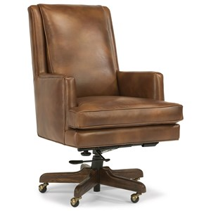 Casual Leather Office Chair with Track Arms