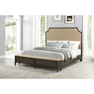 King Upholst. Storage Bed