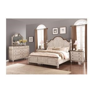 Queen Poster Bed, Dresser, Mirror, Nightstand and Chest Package