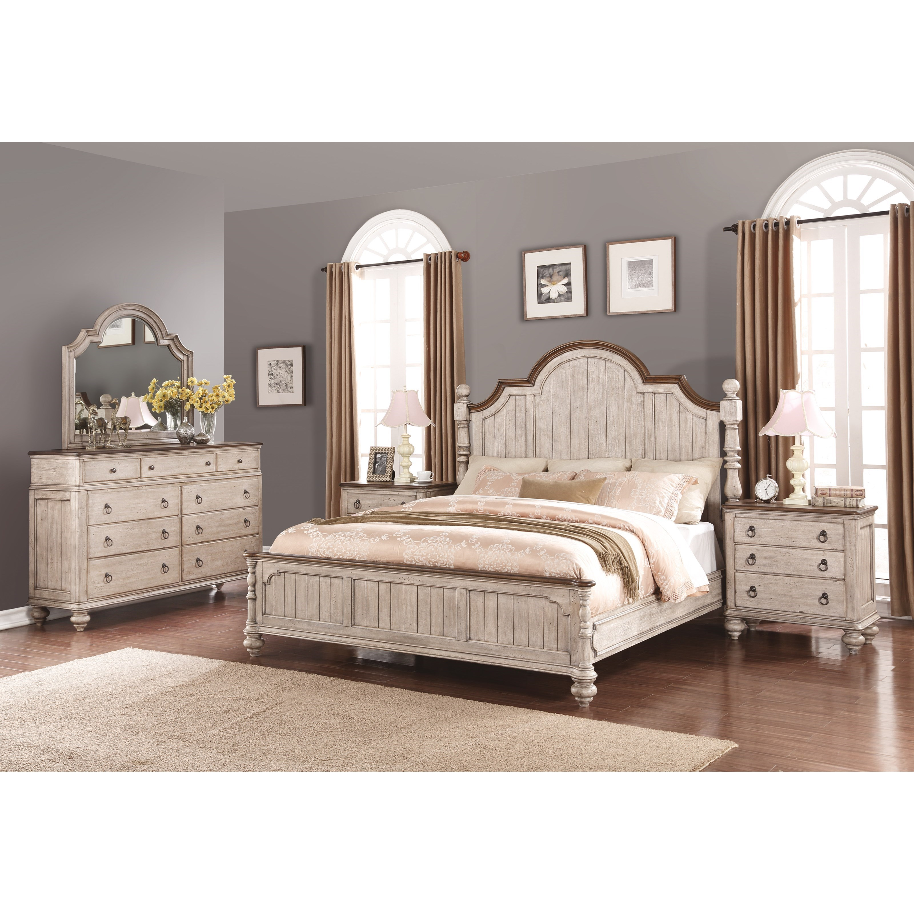 Plymouth Cal King Bedroom Group by Flexsteel Wynwood Collection at Northeast Factory Direct