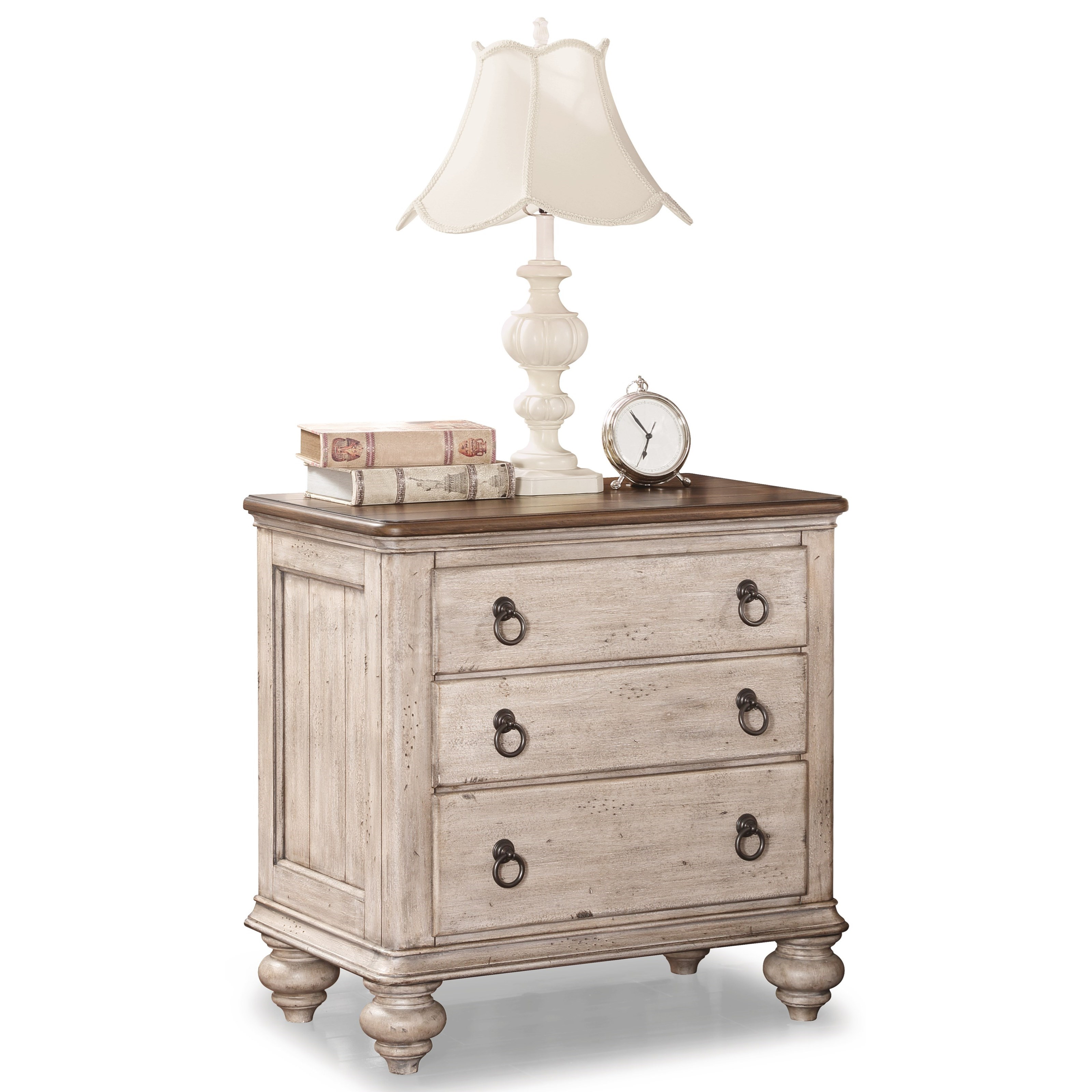 Plymouth Nightstand by Flexsteel Wynwood Collection at Darvin Furniture