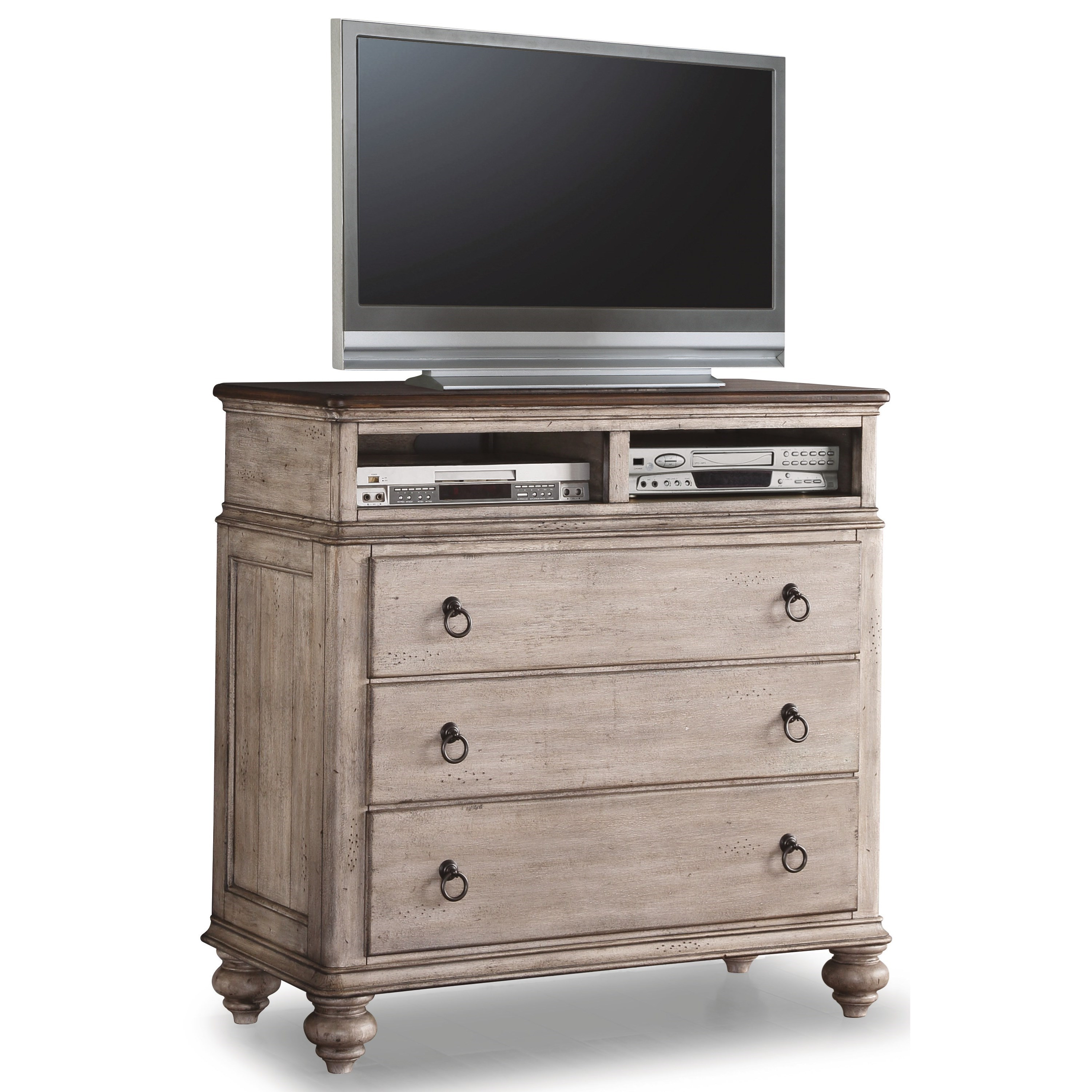 Plymouth Media Chest by Flexsteel Wynwood Collection at Sam Levitz Outlet