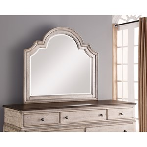 Cottage Dresser Mirror with Beveled Mirror