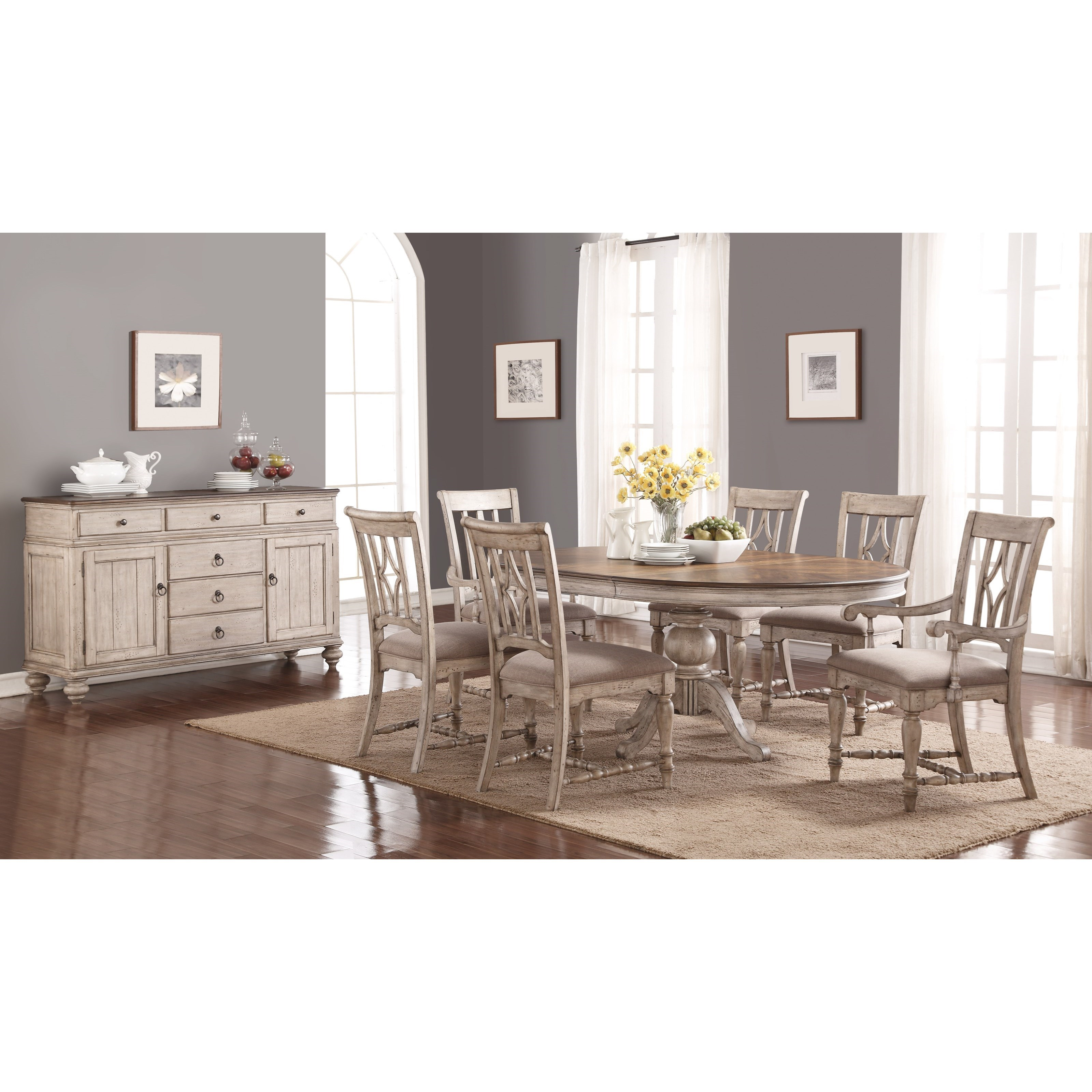 Plymouth Dining Room Group by Flexsteel Wynwood Collection at Northeast Factory Direct