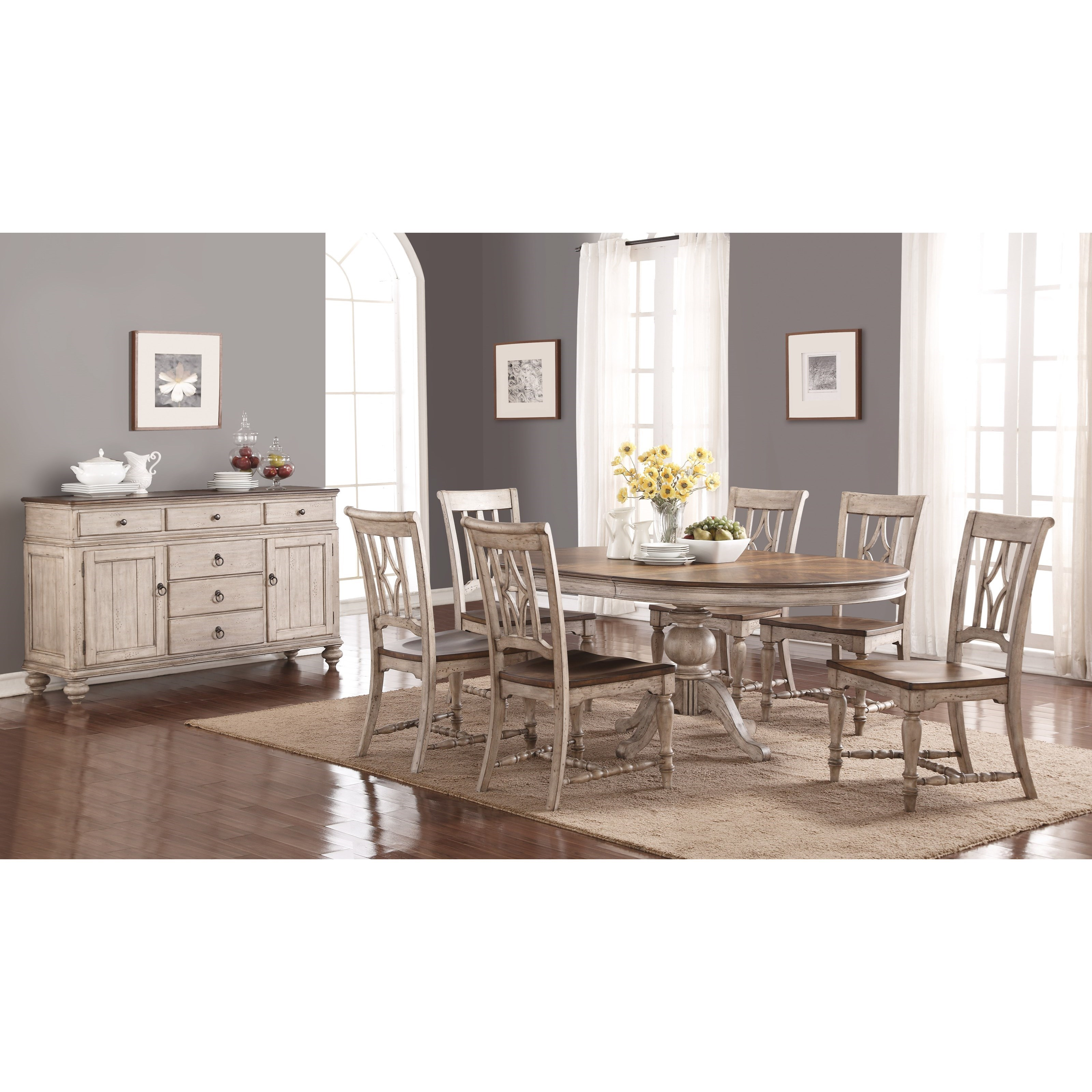 Plymouth Dining Room Group by Flexsteel Wynwood Collection at Fashion Furniture