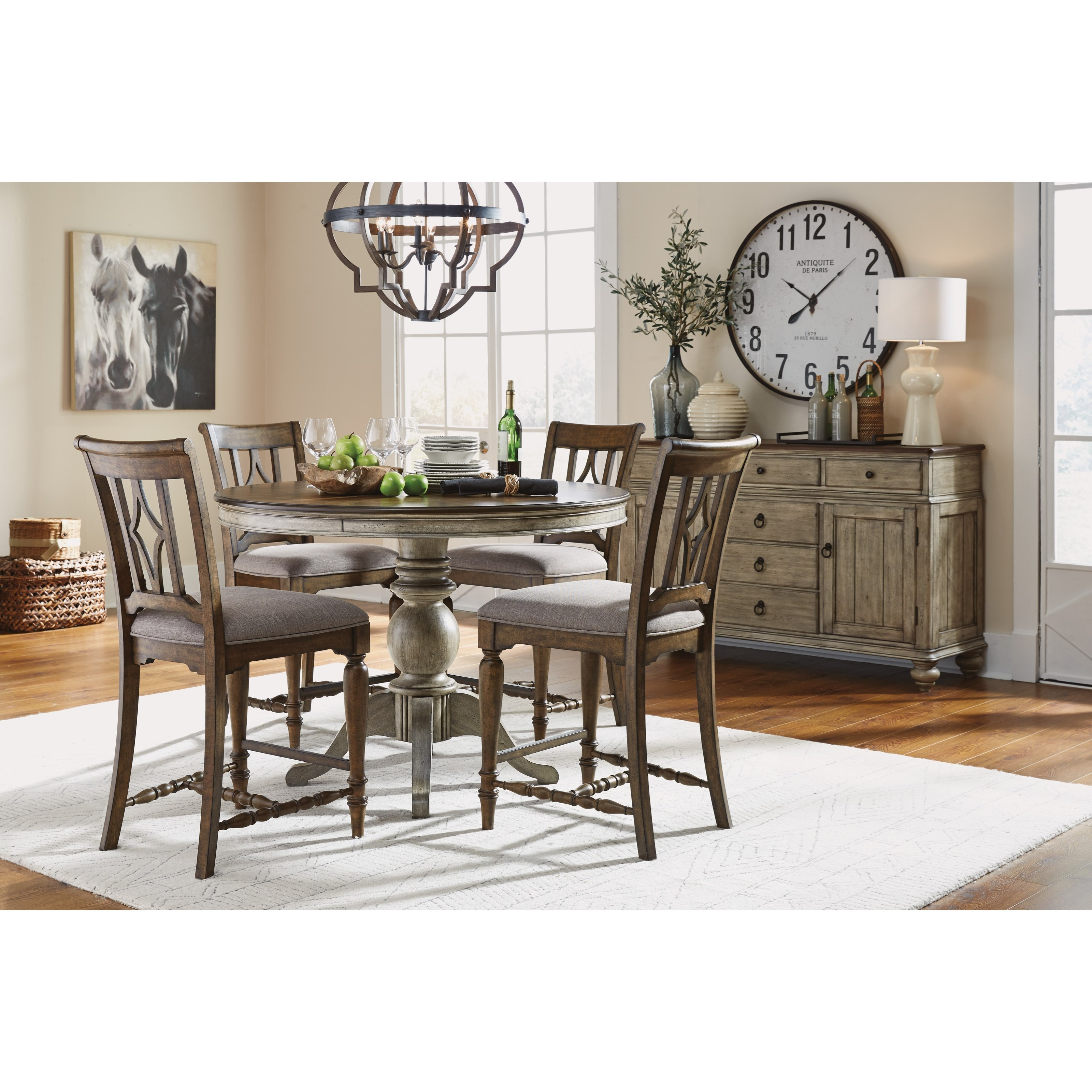Plymouth Counter Height Dining Room Group by Flexsteel Wynwood Collection at Fashion Furniture