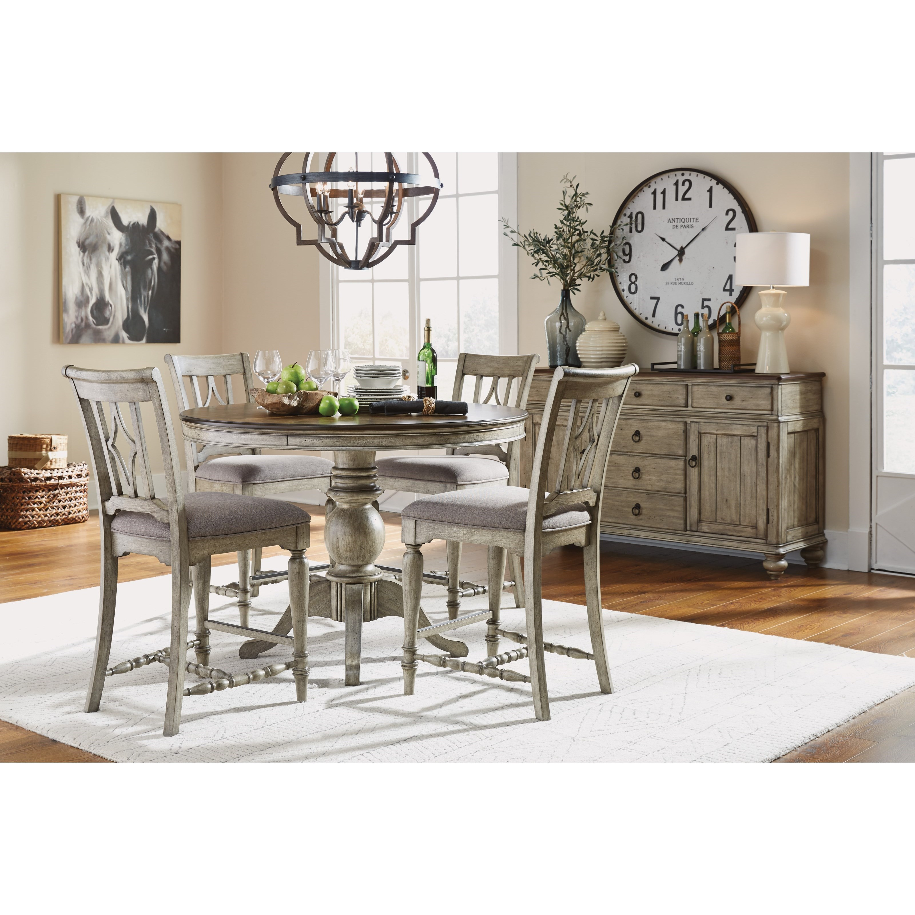 Plymouth Counter Height Dining Room Group by Flexsteel Wynwood Collection at Northeast Factory Direct