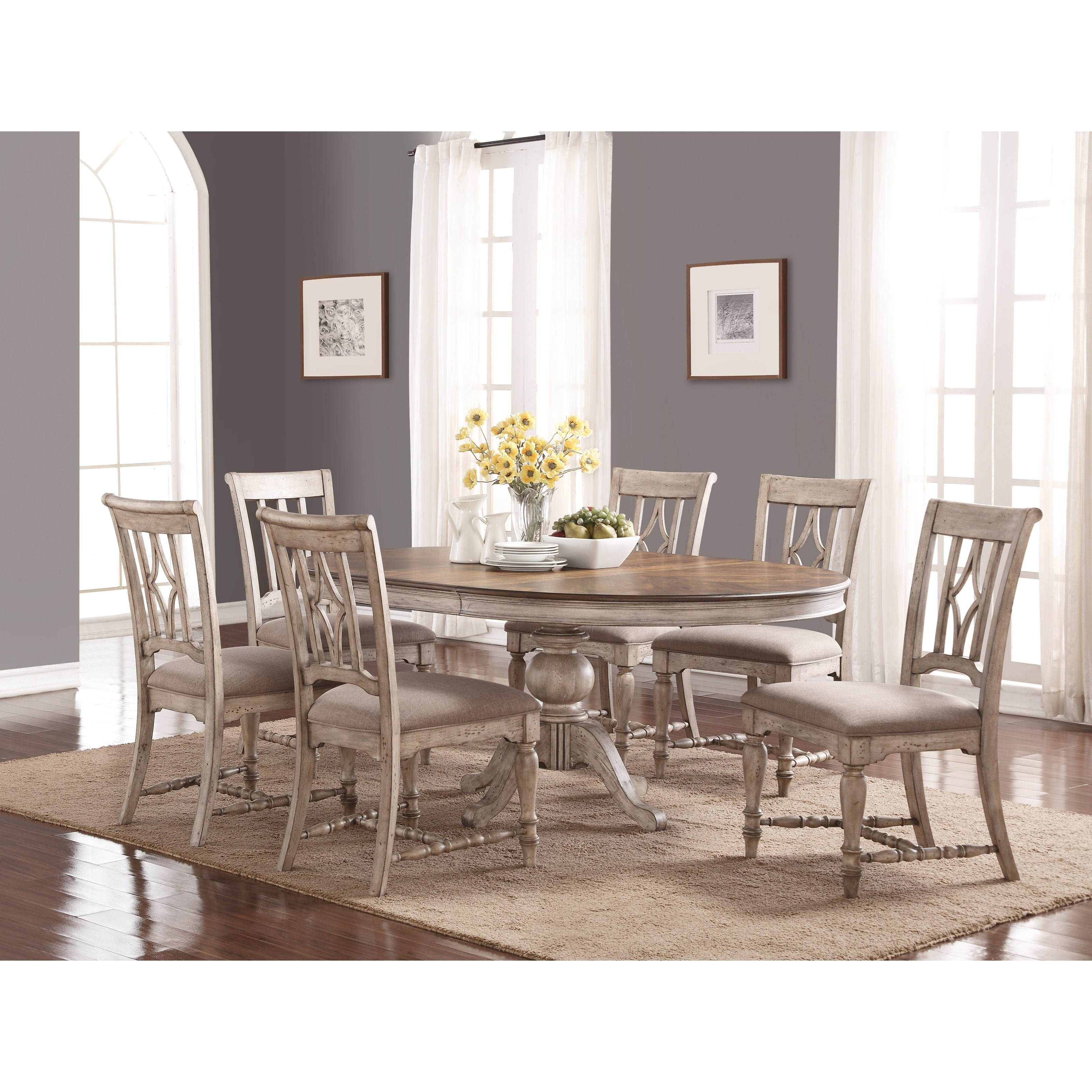 Plymouth Table and Chair Set by Flexsteel Wynwood Collection at Steger's Furniture