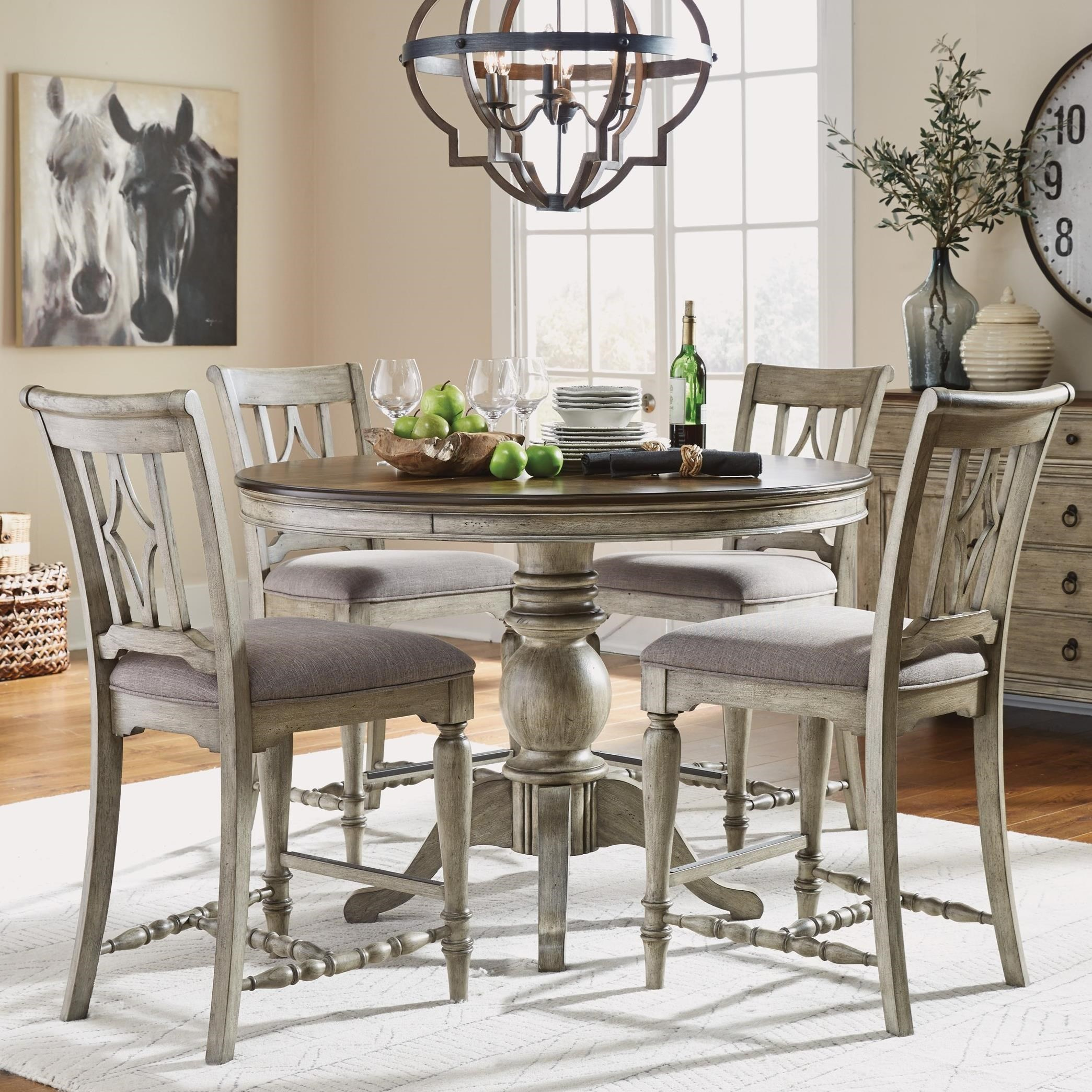 Plymouth 5-Piece Counter Height Table and Chair Set by Flexsteel Wynwood Collection at Fashion Furniture