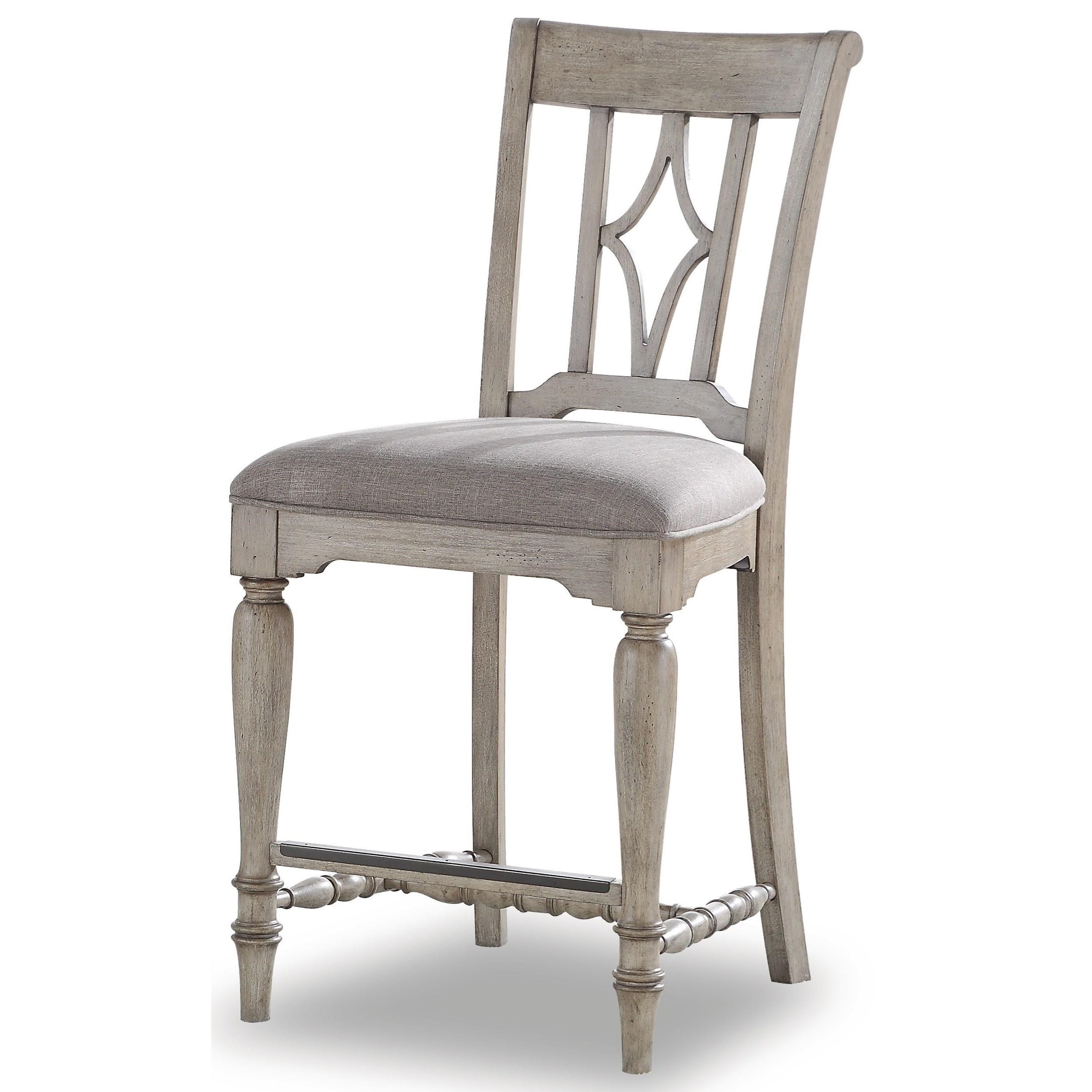 Plymouth Upholstered Counter Stool by Flexsteel Wynwood Collection at Steger's Furniture