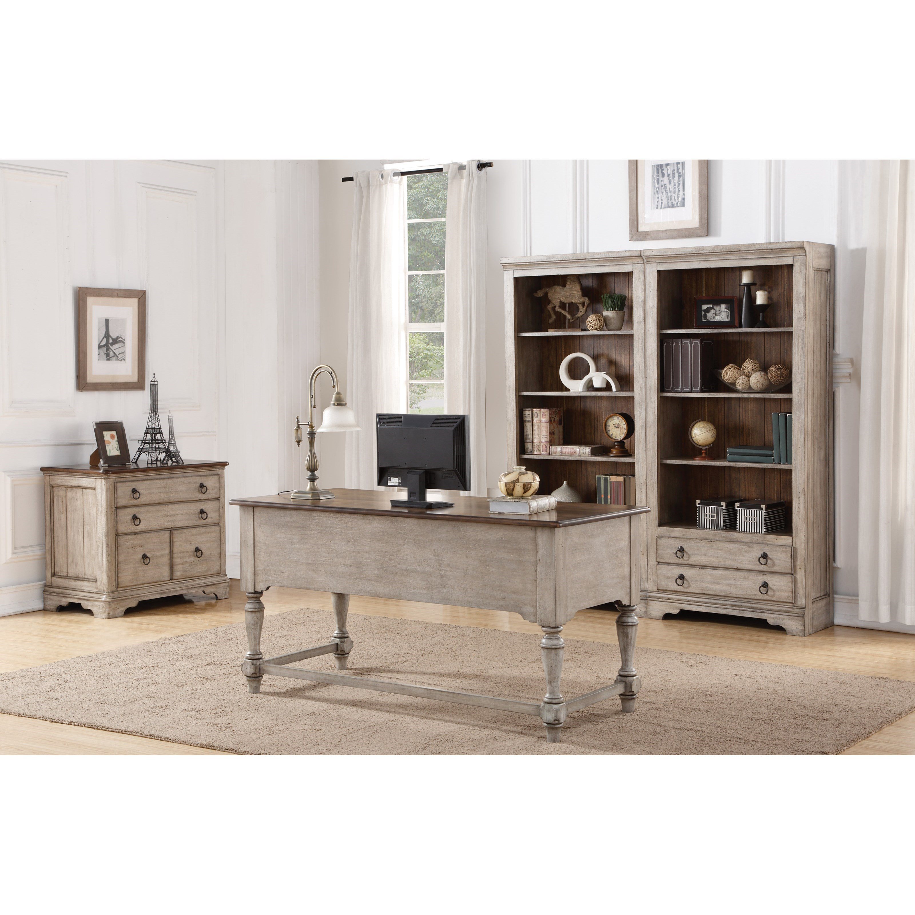 Plymouth Home Office Group by Flexsteel Wynwood Collection at Steger's Furniture